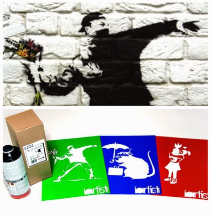 Iartistlondon diy i artist london do it yourself art contemporain oeuvre graf graffiti tag banksy guerilla street art flower