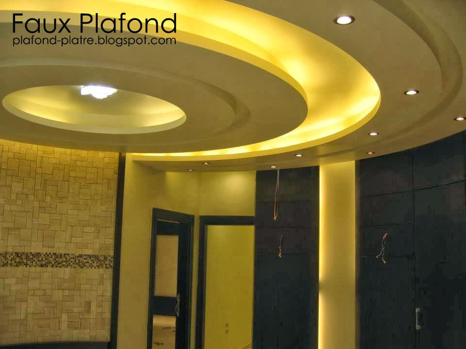 Faux Plafond Tunisie 2015 : Décoration plafond salon tunisie