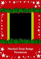 pocztówka do wydrukowania - Boże Narodzenie