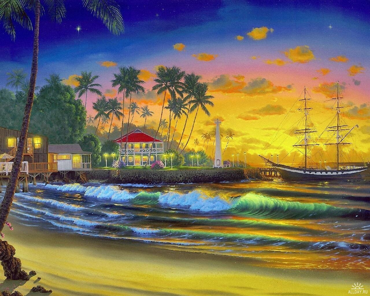 Il mondo di mary antony john al hougue paesaggi hawaiani for Quadri facili da dipingere