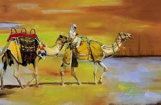 cuadros-de-desiertos-con-camellos
