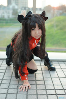 Makiron Cosplay as Tohsaka Rin from Fate/Stay Night