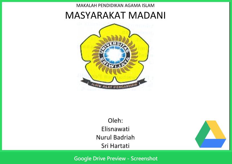Contoh Makalah Agama Tentang Pendidikan Agama Islam Masyarakat Madani Berkas Kurikulum 2013