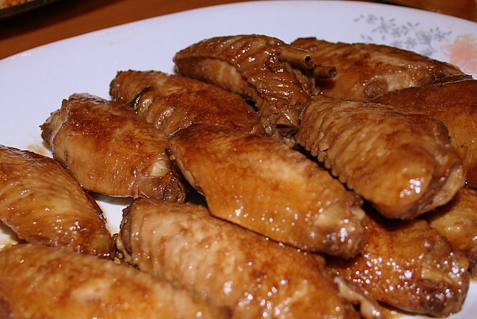 Chicken wings with soy sauce recipes