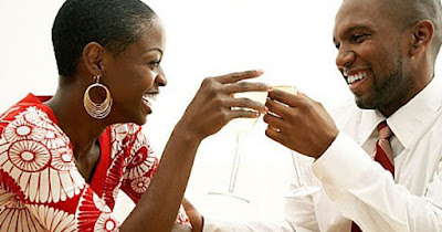 Black family toasting