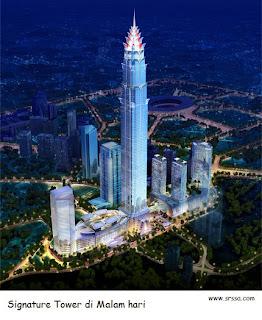 SIGNATURE TOWER: Gedung Tinggi Indonesia kelima di dunia
