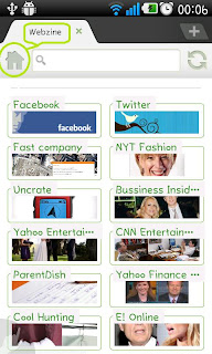 Webzine in Dolphin Browser HD 6.0