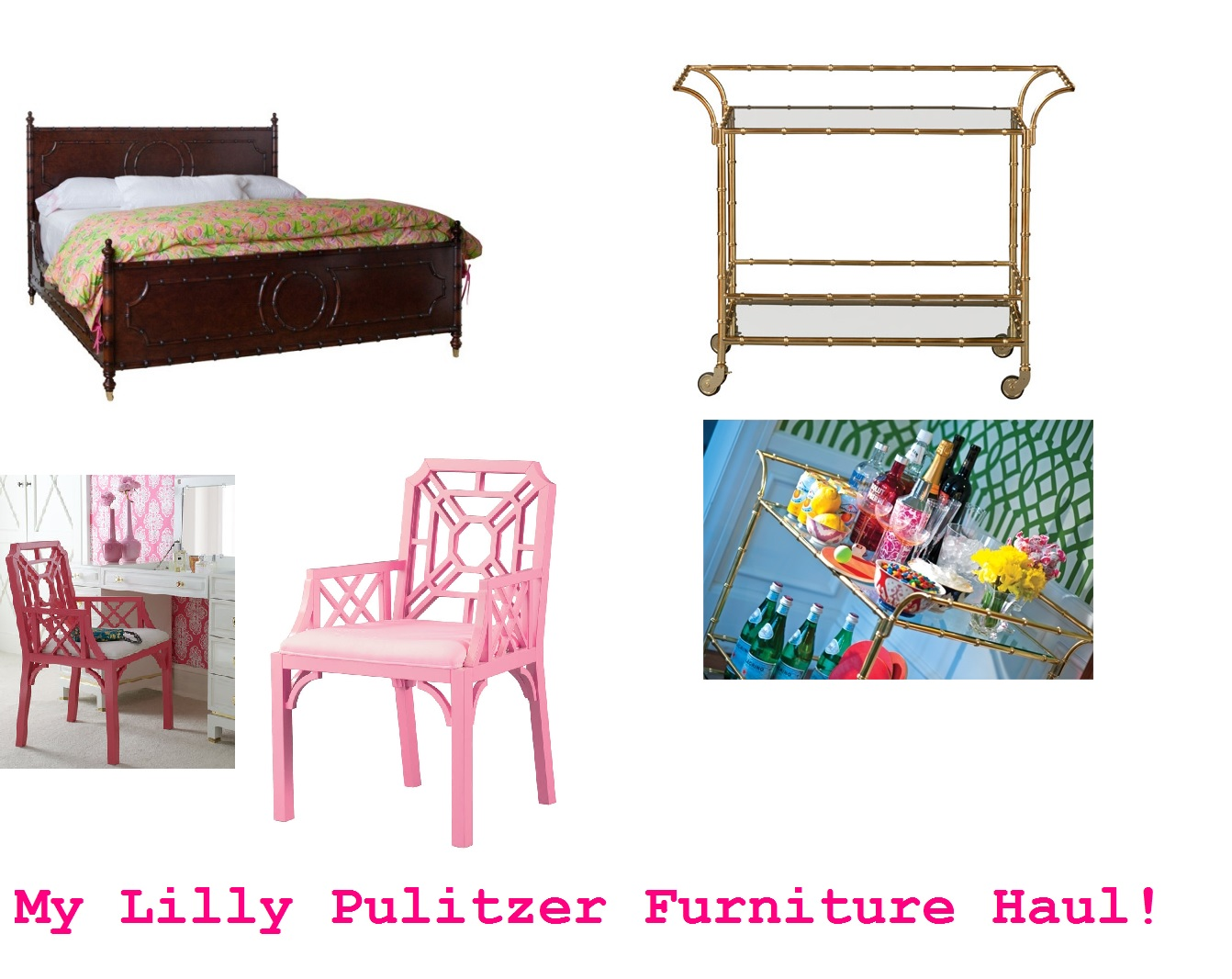 So I ve had a ton of people messaging and emailing me asking where I bought  my Lilly Pulitzer furniture  See my Lilly Pulitzer furniture haul below. Re Lilly   The Pink Closet
