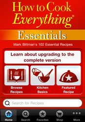 How to Cook Everything Essentials iPhone app available as FREE download