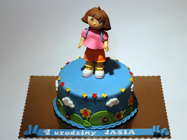 Dora The Explorer Birthday Cake for Kid