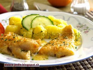Smotanovo-vínova ryba - recepty