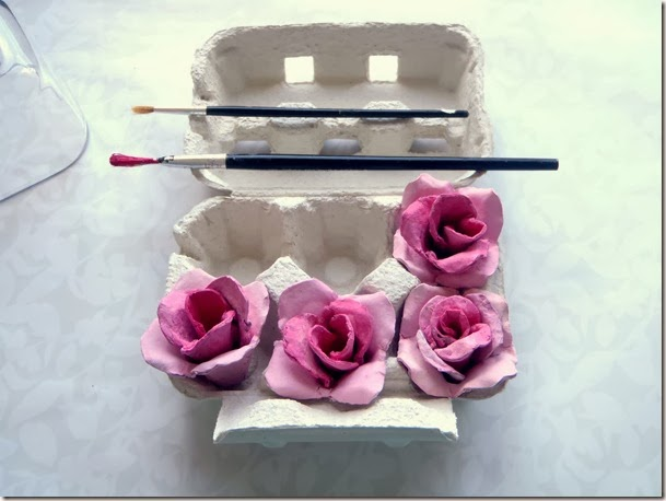how to rose flower from old egg tray reuse recraft  วิธีทำดอกไม้จากถาดไข่กระดาษ กระดาษใช้แล้ว ดอกกุหลาบจากของใช้แล้ว Come fiore di rosa dal vecchio vassoio di uova riutilizzo recraft