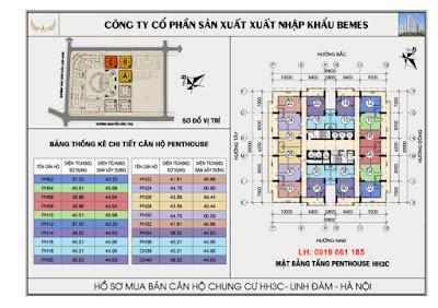 mat bang tang penhouse chung cu hh3c linh dam