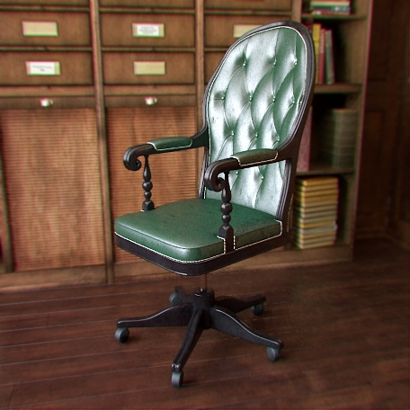Home furnishing leather chairs for home office