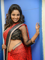 Amitha Rao Glam pics in Red Saree-cover-photo