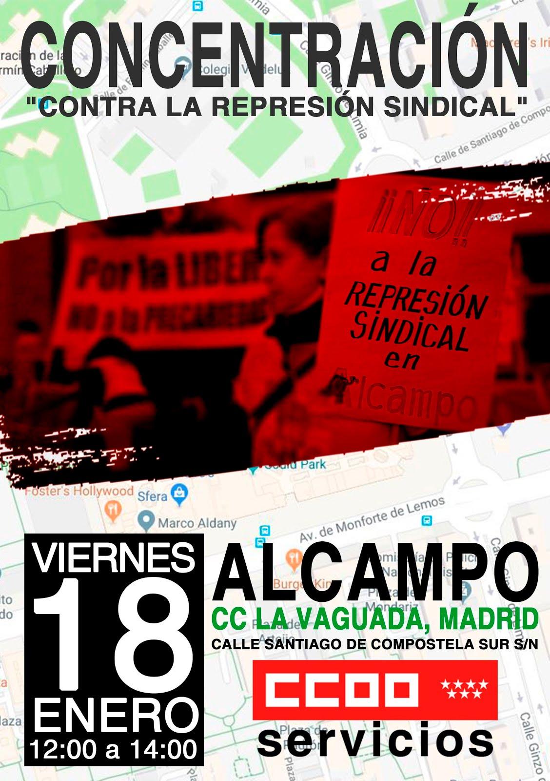 18 enero No a la Represión Sindical ALcampo