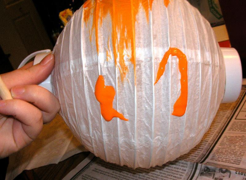Owl paper lantern tutorial my girlish whims - Paper lantern paint color ...