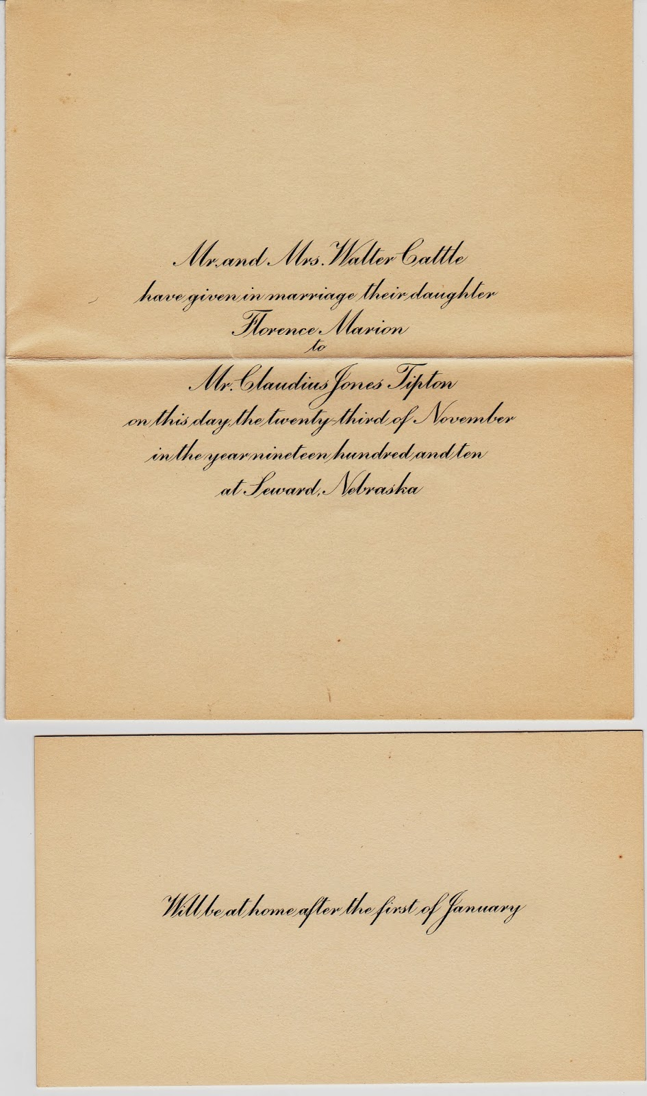 Finding and Preserving Your History A 1910 Wedding Invitation Adds
