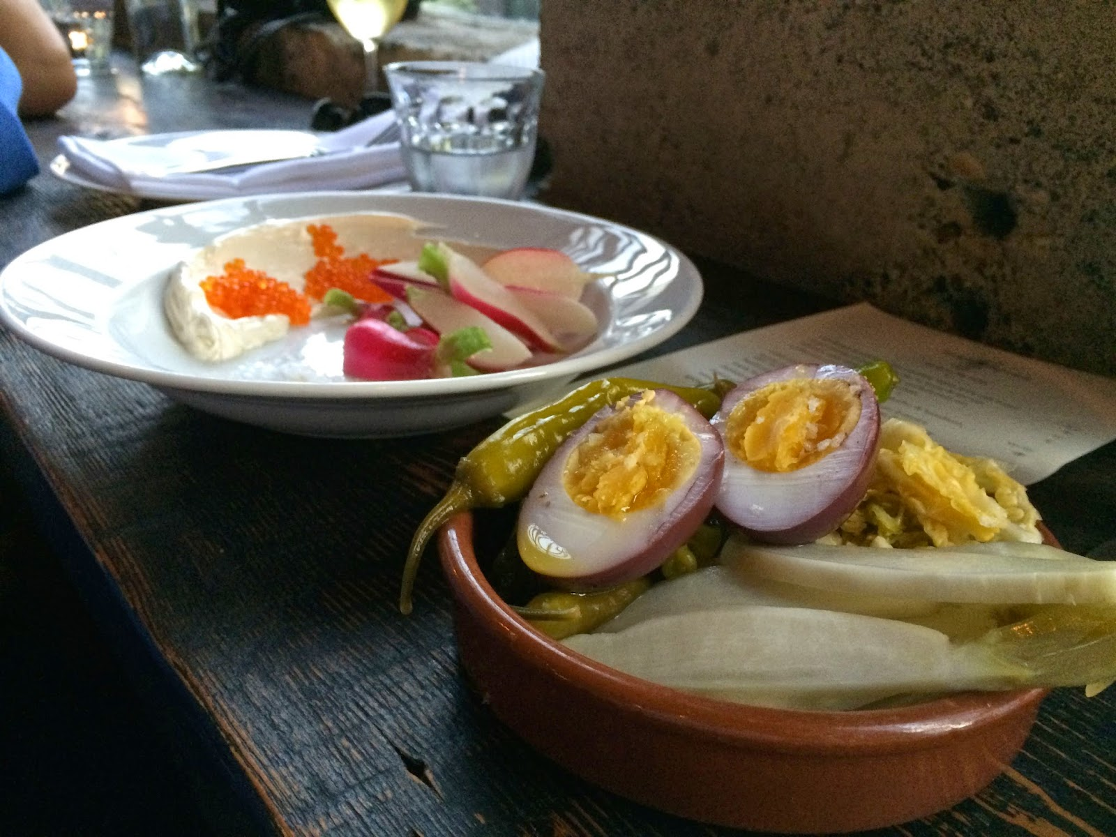 Fermented Vegetables, Radishes with whipped butter at Sitka & Spruce, Seattle