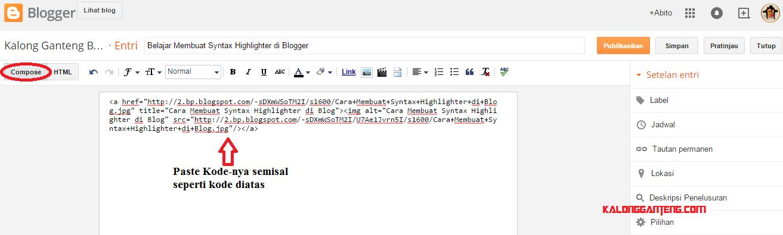 Cara Penggunaan Syntax Highlighter di Blogger