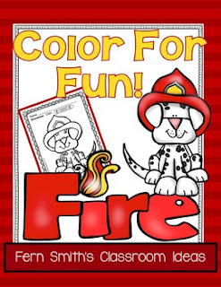 Fern Smith's Classroom Ideas Color For Fun - Fire Safety Printables