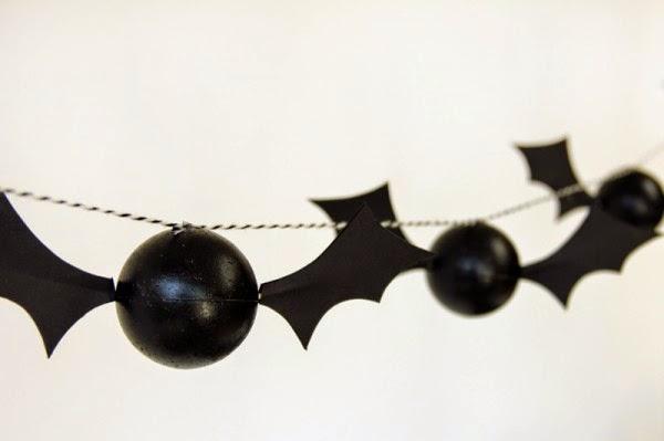 Guirnalda con Murcielagos, Tutorial, Decoracion para Halloween