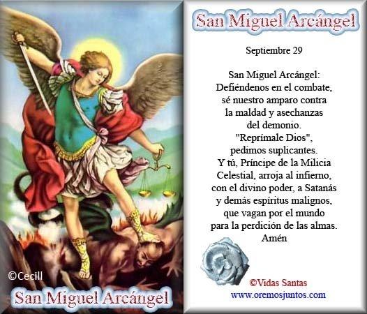 Estampas Oraciones De San Miguel Arc  Ngel