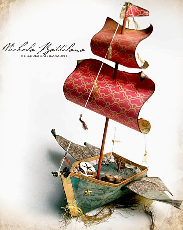 pixie hill sky pirate paper boat
