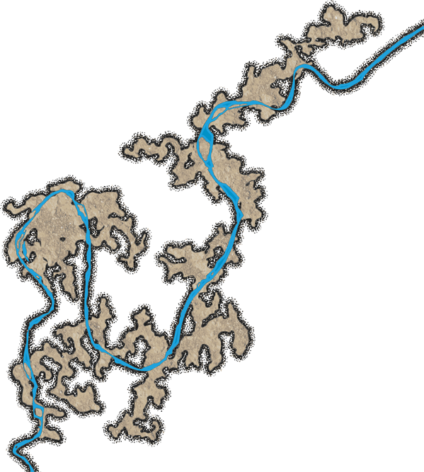 The 2nd in a trio of underground river maps