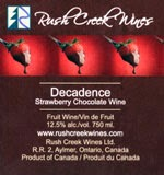 Rush Creek Wines Strawberry Decadence Wine