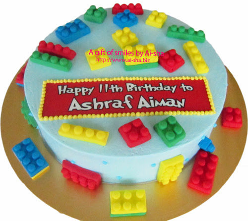 Birthday Cake Lego Ai-sha Puchong Jaya