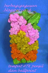Kerajinan Tangan Daur Ulang Bunga Kertas Bekas