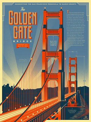 MondoCon 2015 Exclusive Golden Gate Bridge Print by Eric Tan & Info-Rama