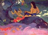 Paul Gauguin (44 años) - Fatata te miti (Cerca del mar) (1892)