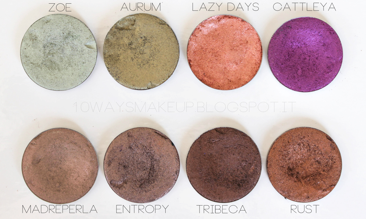 Nabla Solaris ombretti eyeshadow  swatch