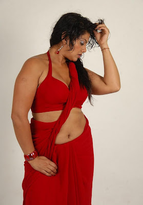 swathi varma ,armpit in red saree latest photos