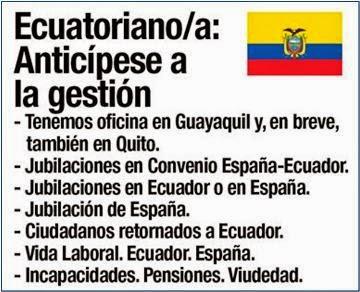 Jubilación o Pensión por Convenio Ecuador - España