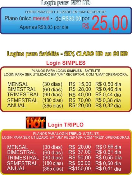 >>Servidor CS VIDA TV >>Login Simples R$15,00>> Login NET HD R$25,00>> IPTV CLARO HD R$25,00>> Testes no e-mail: csvidatv@gmail.com >>Contamos com um super computador com internet dedicada de baixa latência!! >>Quem testa assina venha comprovar!! Valores2-2902201611482525