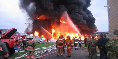 Крупнейший пожар на нефтебазе под Киевом