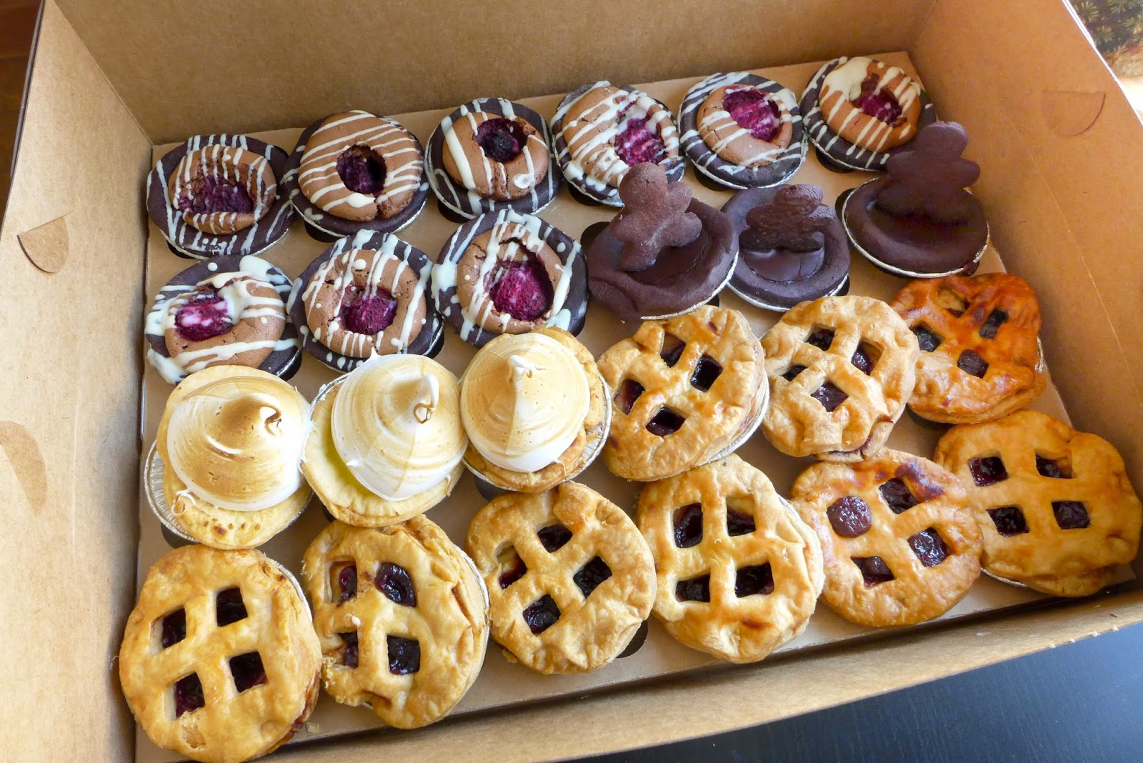 Rustique Pie Kitchen - Chocolate Raspberry, Lemon Meringue, Cherry Pie, Chocolate Orange