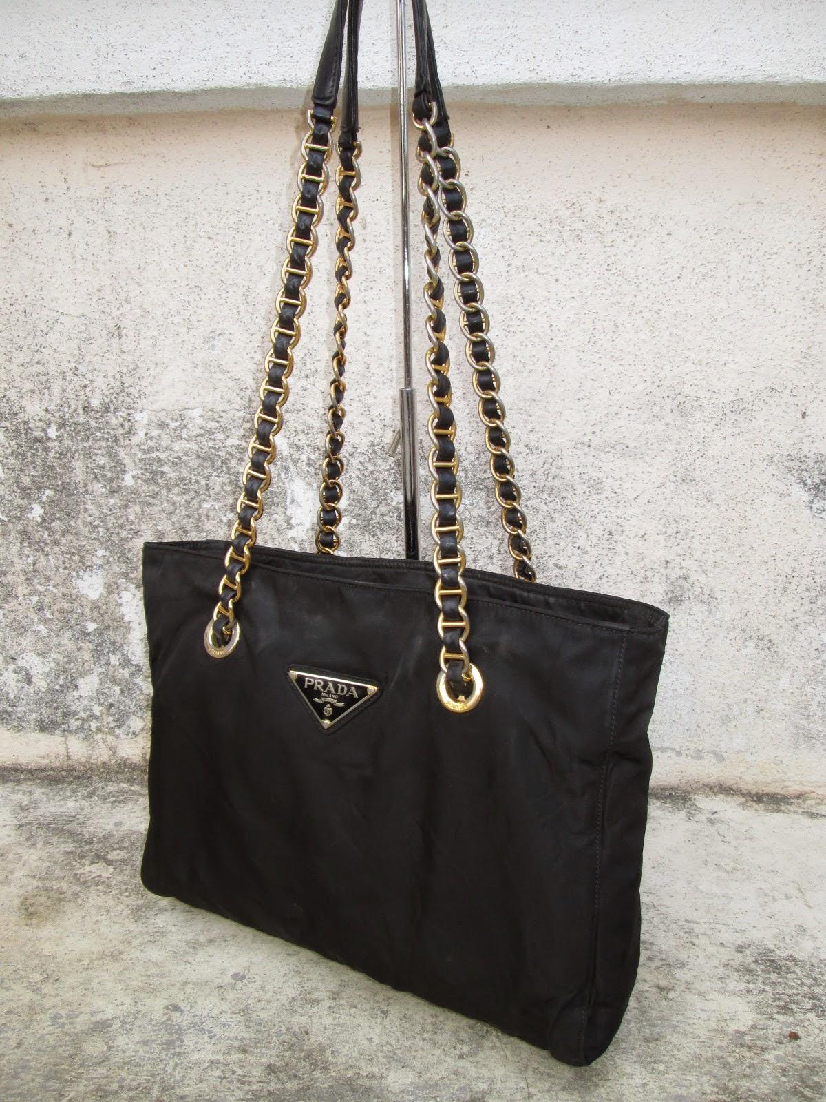 prada luggage price - d0rayakEEbaG: Authentic PRADA Logos Quilted Chain Shoulder Bag(SOLD)