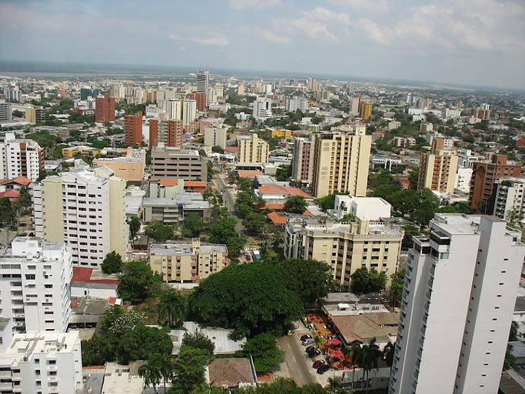 Panorámica general de Barranquilla, Colombia. Foto de Jdvillalobos tomada de commons.wikipedia.org