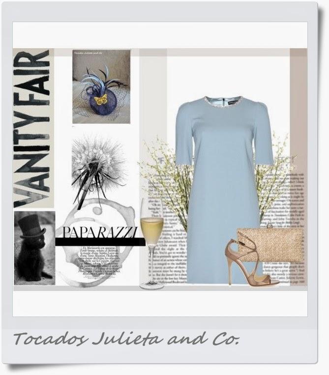vestido para tocado azul