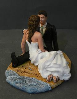statuine matrimoni cake tops topper romantico personalizzato orme magiche