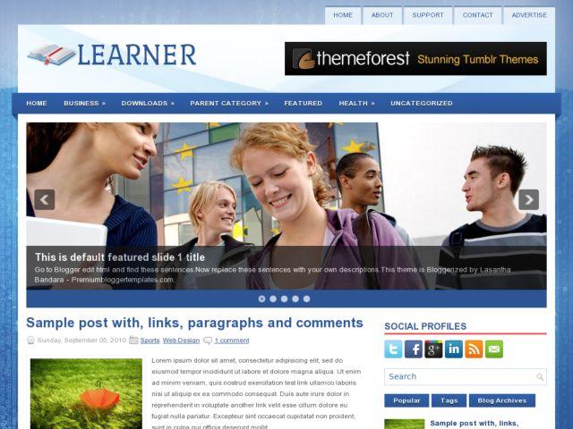 Learner Blogger Template
