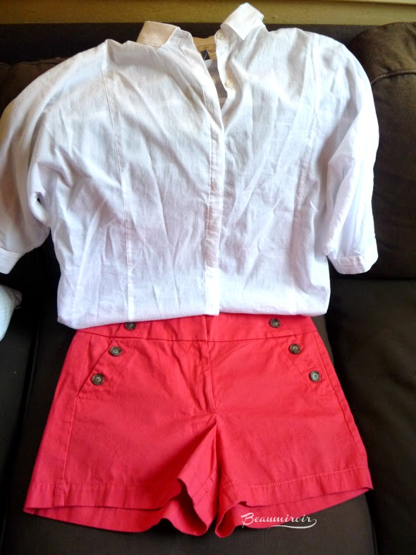 Loft sailor shorts and white shirt fashion clothing