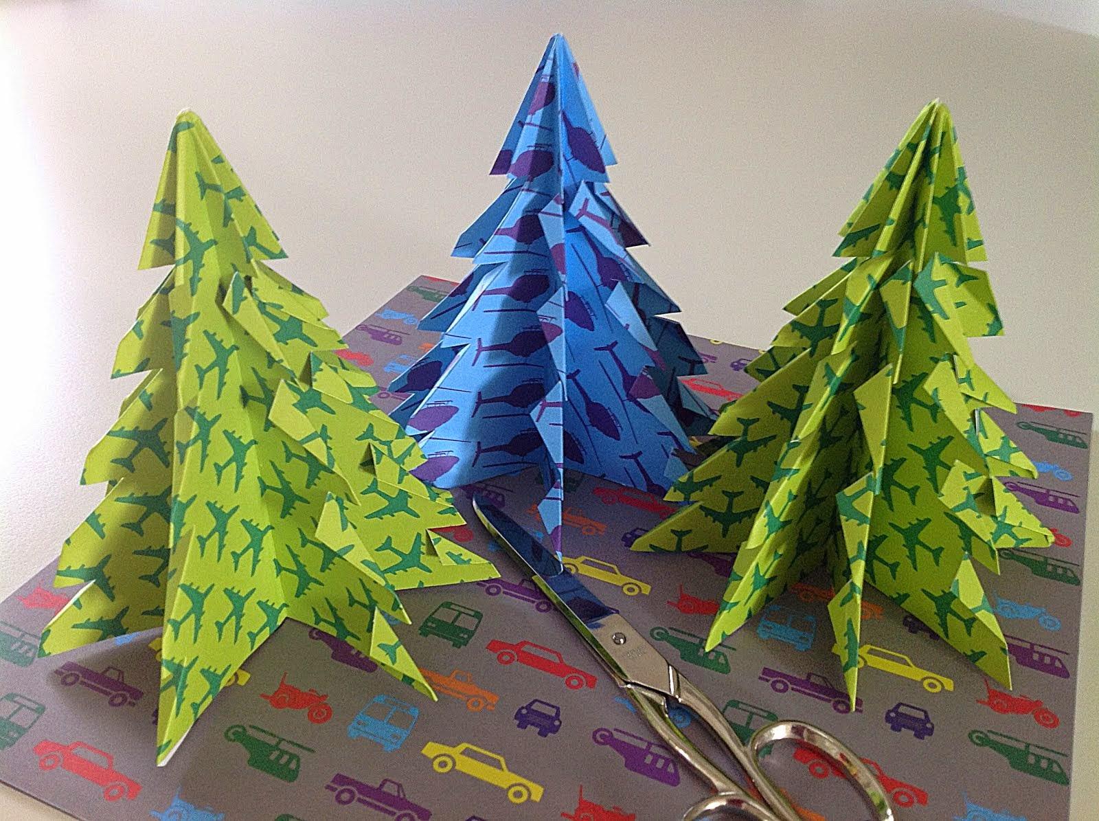 Origamijuletræer