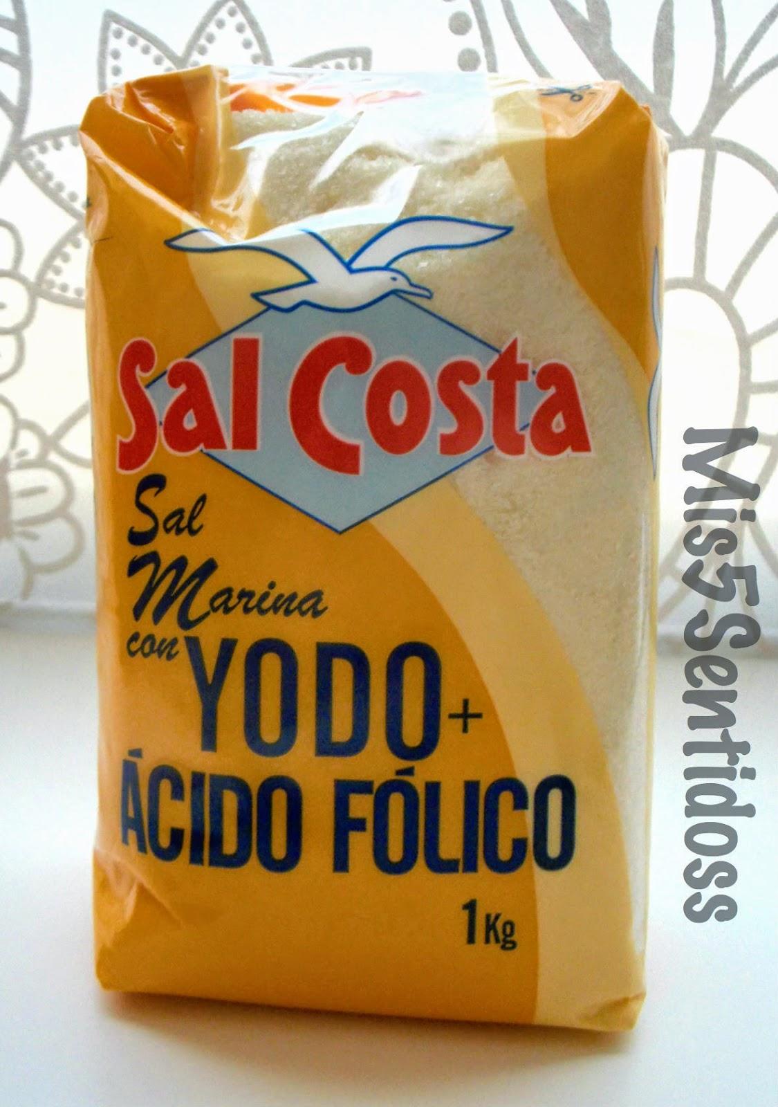 Degustabox junio 2014 Sal costa yodo+ácido fólico