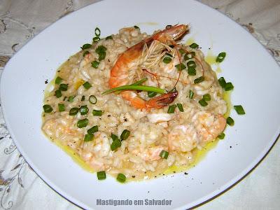 Ivano Bragonzi - Personal Chef: Risoto de Camarão