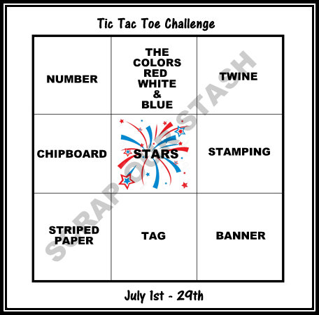 July Tic Tac Toe Stash Challenge